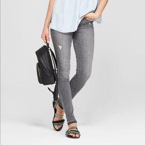 NWT Raw Fray Hem High Rise Skinny Jeans - Gray